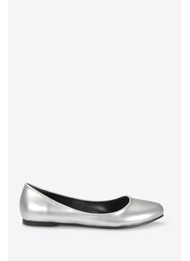 Vizon Ayakkabı Babet Gümüş